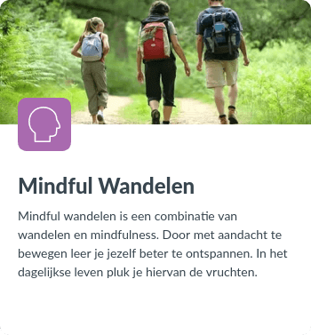 Activiteit Mindful Wandelen